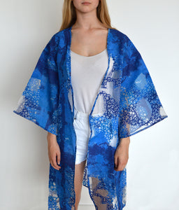 Deep Blue Kimono Jacket - BOO PALA LONDON