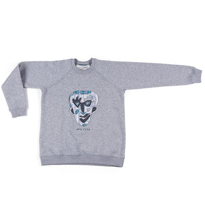 JANE DOE SWEATSHIRT - GREY - BOO PALA LONDON
