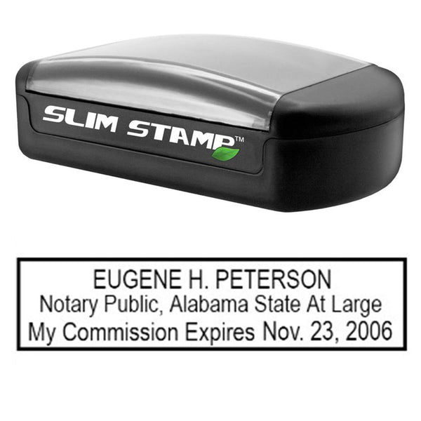 Slim Alabama Notary Stamp