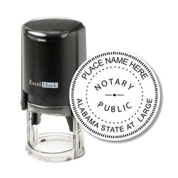Round Self-Inking Alabama Notary Stamp