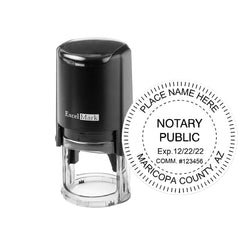 Round Self-Inking Arizona Notary Stamp
