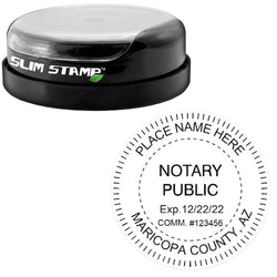 Round Slim Arizona Notary Stamp