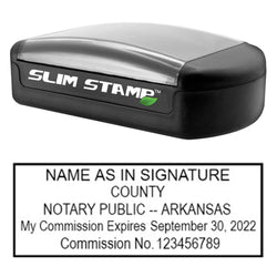 Slim Arkansas Notary Stamp