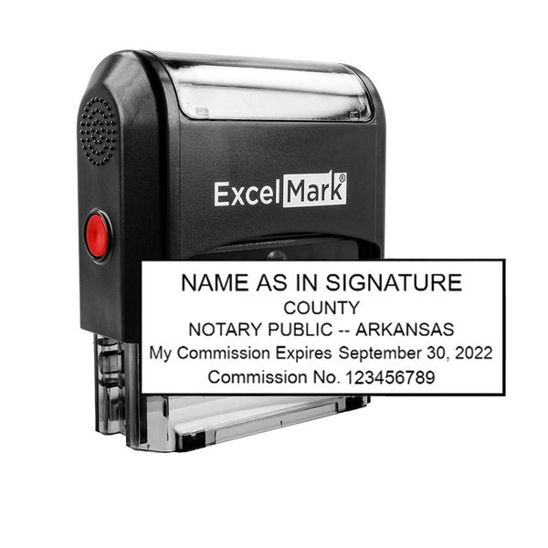 Arkansas Notary Stamp - Self-Inking