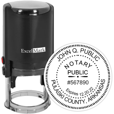 Arkansas Notary Stamp - Round Self-Inking