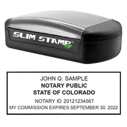 Slim Colorado Notary Stamp