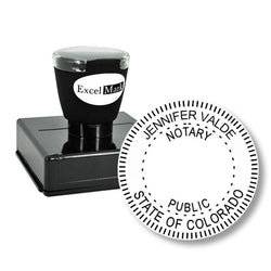 Round Pre-Inked Colorado Notary Stamp