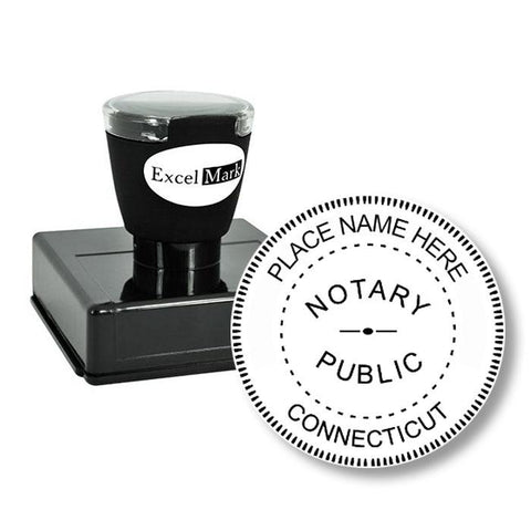 Round Pre-Inked Connecticut Notary Stamp