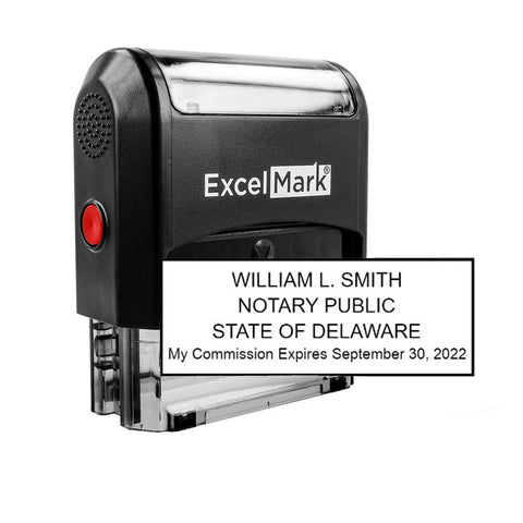 Self-Inking Delaware Notary Stamp