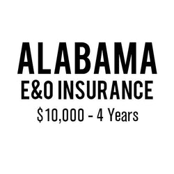 Alabama E&O Insurance ($10,000, 4 years)