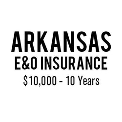 Arkansas E&O Insurance ($10,000, 10 years)