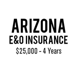 Arizona E&O Insurance ($25,000, 4 years)