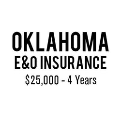 Oklahoma E&O Insurance ($25,000, 4 years)