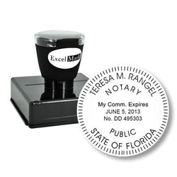 Round Pre-Inked Florida Notary Stamp