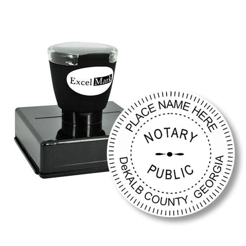 Round Pre-Inked Georgia Notary Stamp