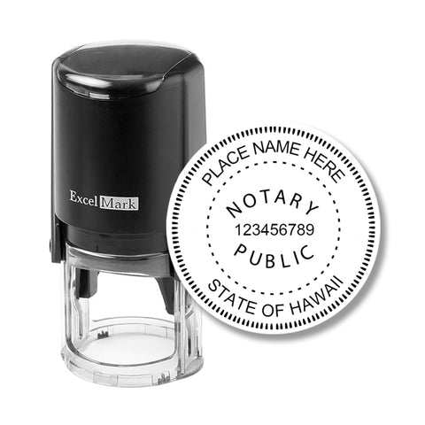 Hawaii Notary Stamp - Round Self-Inking