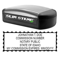 Slim Idaho Notary Stamp