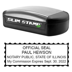 Slim Illinois Notary Stamp