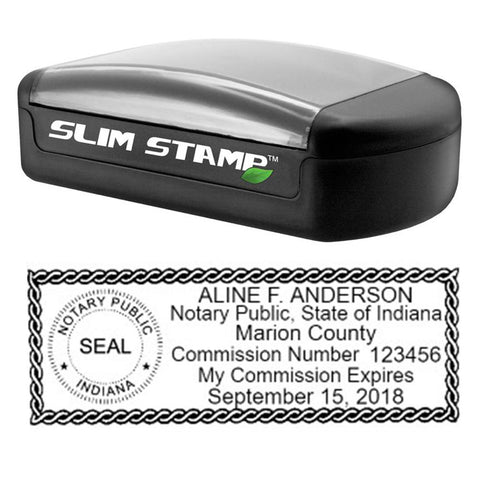 Slim Indiana Notary Stamp