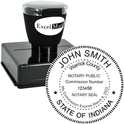 Round Pre-Inked Indiana Notary Stamp