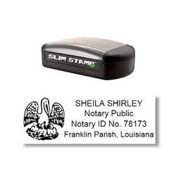 Slim Louisiana Notary Stamp