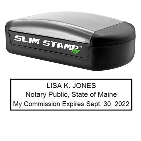 Slim Maine Notary Stamp