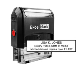Self-Inking Maine Notary Stamp