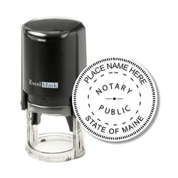 Round Self-Inking Maine Notary Stamp