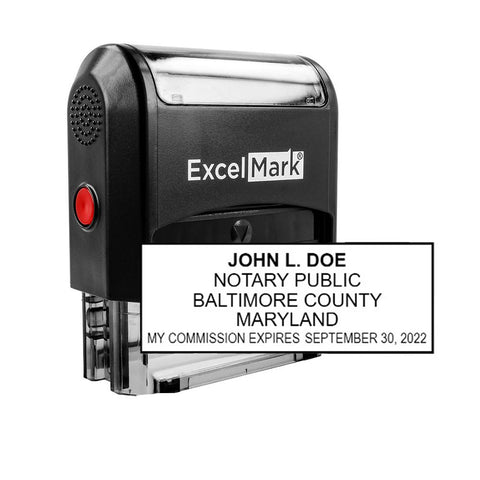 Self-Inking Maryland Notary Stamp