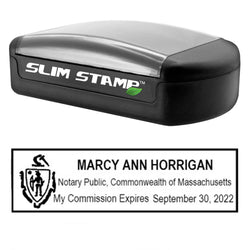 Slim Massachusetts Notary Stamp