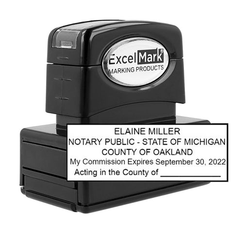 Pre-Inked Michigan Notary Stamp