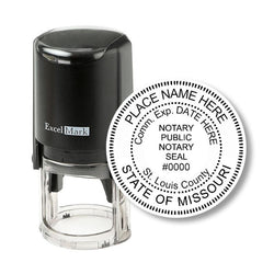 Round Self-Inking Missouri Notary Stamp