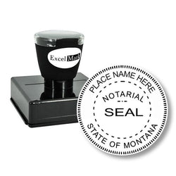 Round Pre-Inked Montana Notary Stamp