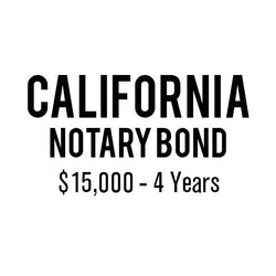California Notary Bond ($15,000, 4 years)