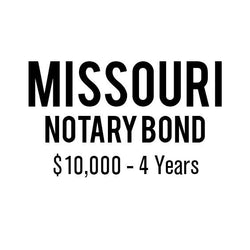 Missouri Notary Bond ($10,000, 4 years)