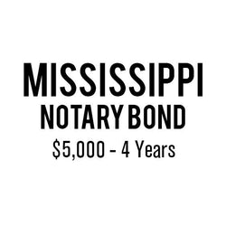 Mississippi Notary Bond ($5,000, 4 years)
