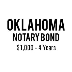 Oklahoma Notary Bond ($1,000, 4 years)