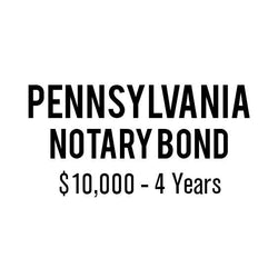 Pennsylvania Notary Bond ($10,000, 4 years)