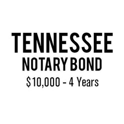 Tennessee Notary Bond ($10,000, 4 years)