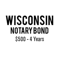 Wisconsin Notary Bond ($500, 4 years)