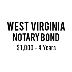 West Virginia Notary Bond ($1,000, 4 years)