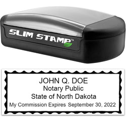 Slim North Dakota Notary Stamp