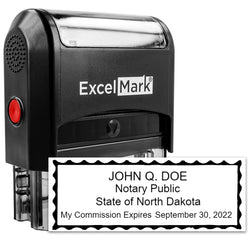 North Dakota Notary Stamp - Self-Inking