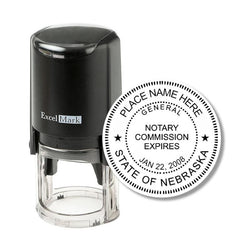 Round Self-Inking Nebraska Notary Stamp