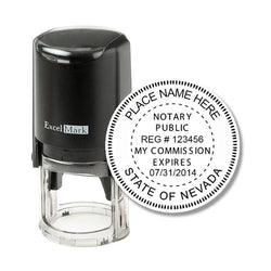 Round Self-Inking Nevada Notary Stamp