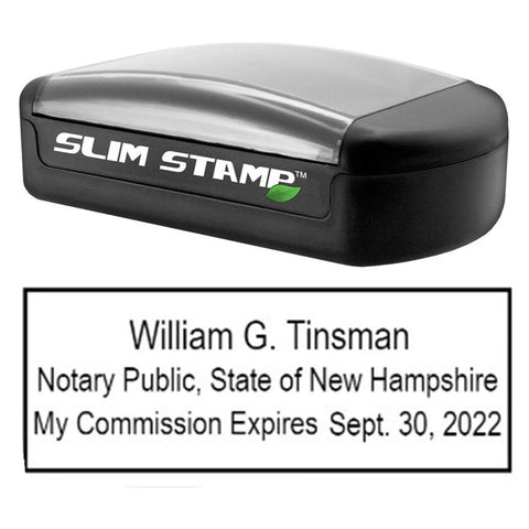 Slim New Hampshire Notary Stamp
