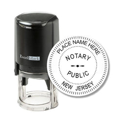 Round Self-Inking New Jersey Notary Stamp
