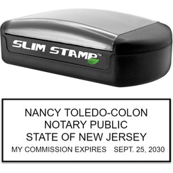 Slim New Jersey Notary Stamp