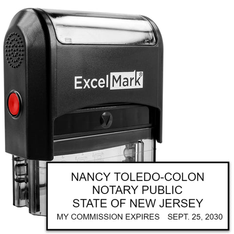New Jersey Notary Stamp - Self-Inking