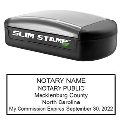 Slim North Carolina Notary Stamp